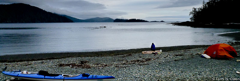 Kayakers camp on the shores of Haida Gwaii.