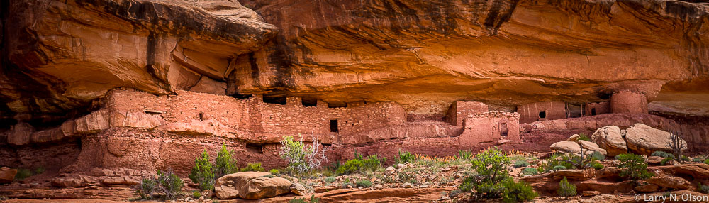 Cliff dwellings occupied by ancestral pueblans around 1000 years ago.